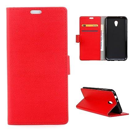 For Vodafone Smart Turbo 7 Case Cover LifeePro [Anti-Slip] Book Style PU