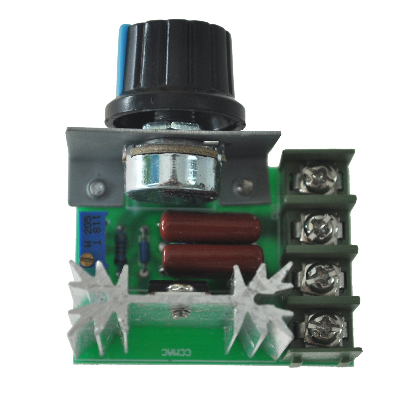 2000W voltaje Regulador atenuacion Velocidad de la Luz monitorizacion de la temperatura SODIAL R