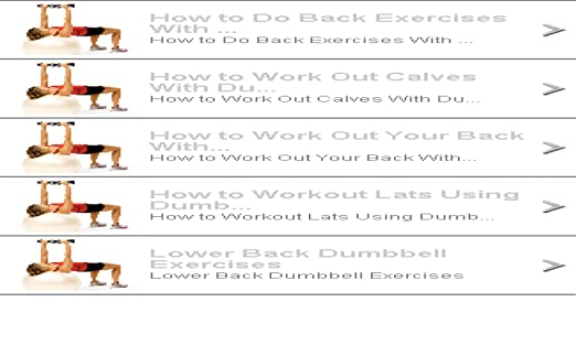 Amazon Com Back Workouts With Dumbbells Appstore For Android