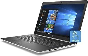 "Premium 2019 Newest HP Pavilion 17.3"" HD+ Business Touchscreen Laptop AMD Quad-Core Ryzen 5 2500U >i7-7500U, 12GB RAM, 128GB SSD, 1TB HDD, AMD Radeon Vega 8 DVD WiFi BT 4.2 Backlit Keyboard Win 10"