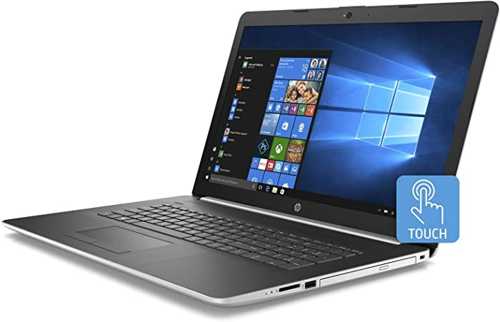 "Premium 2019 Newest HP Pavilion 17.3"" HD+ Business Touchscreen Laptop AMD Quad-Core Ryzen 5 2500U >i7-7500U, 12GB RAM, 128GB SSD, 1TB HDD, AMD Radeon Vega 8 DVD WiFi BT 4.2 Backlit Keyboard Win 10"