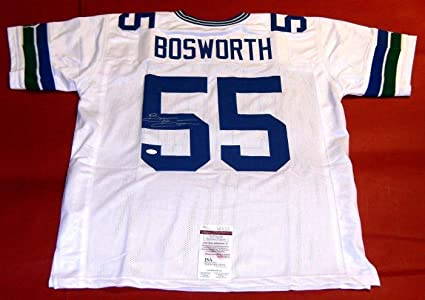5762153ec60 Brian Bosworth Autographed Signed Autograph Seattle Seahawks Throwback W  Jersey Sports Memorabilia JSA