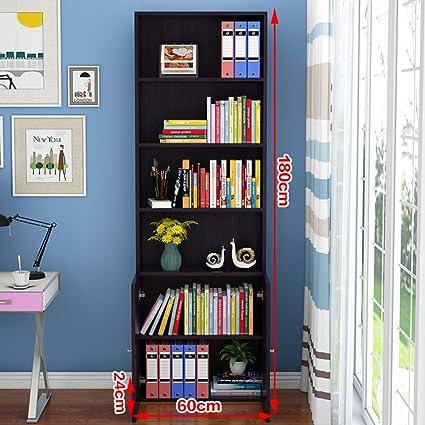 JXBOOS BookshelfMinimalist Modern Creative Bookshelf Shelves Floors Tanding Desktop Storage Rack Simple Bookcase Combination