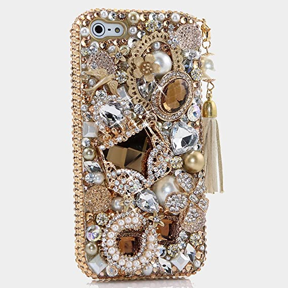 outlet store eeb24 f60ba iPhone 6S PLUS Bling Case, iPhone 6 PLUS Case - LUXADDICTION [Premium  Quality] 3D Handmade Crystallized Bling Case Easy Grip Crystals Diamond  Sparkle ...