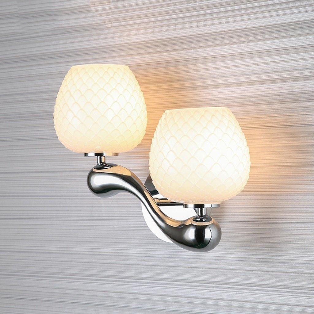 Einfache moderne Wandleuchte Schlafzimmer Nachttischlampe kreative Wandleuchte Outdoor Balkon Wohnzimmer Europäischen Wandleuchte - E27 (weiß)