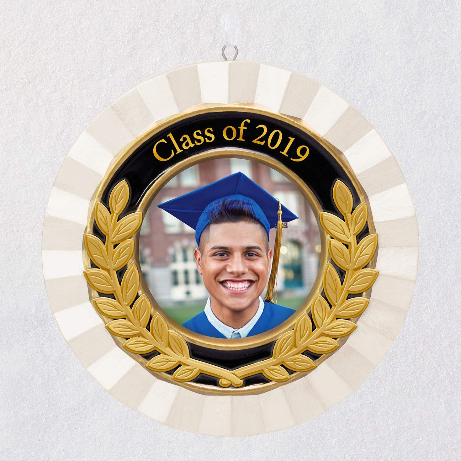 Hallmark Keepsake Christmas Ornament 2019 Year Dated''''Congrats, Grad!'' Picture Frame Porcelain and Metal, Graduation