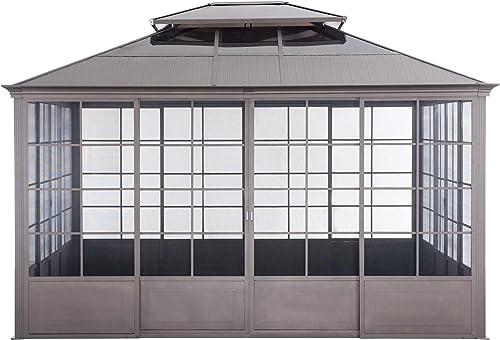 Sunjoy A108000100 Fern 12×14 ft. Steel Screenhouse