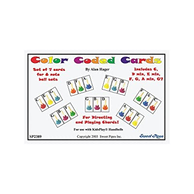 Rhythm Band Color-Coded Handbell Cards/7 Chords: Rhythm Band: Musical Instruments