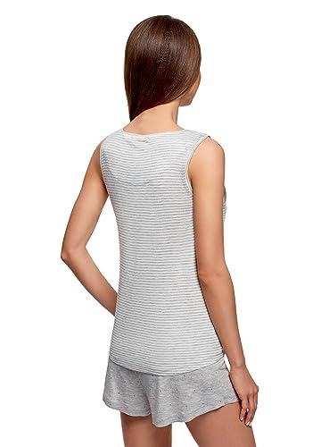 oodji Ultra Mujer Pijama con Pantalones Cortos de Viscosa: Amazon.es: Ropa y accesorios