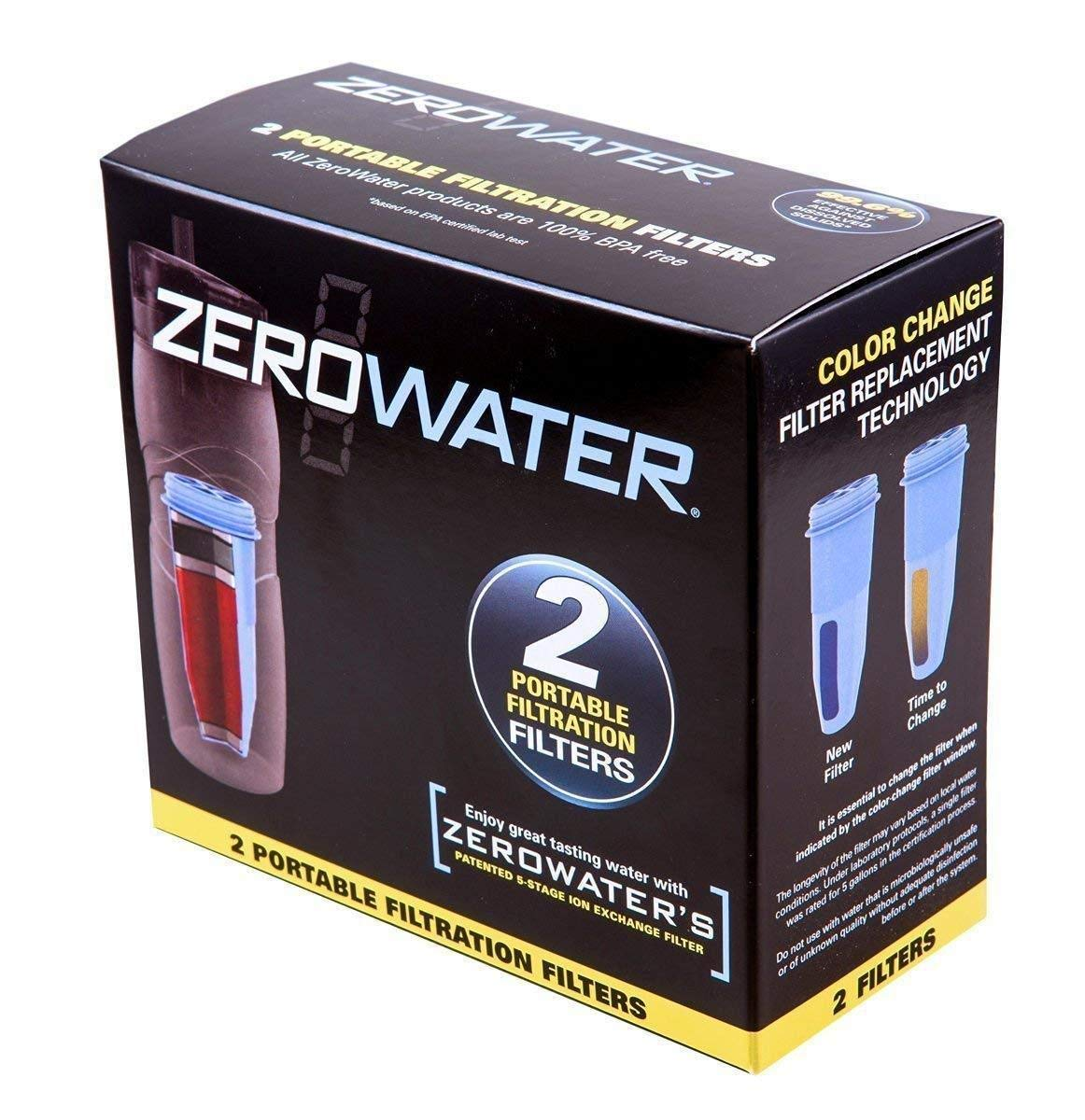 Zero Water Replacement Filter 2-Pack Portable Replacement Filters