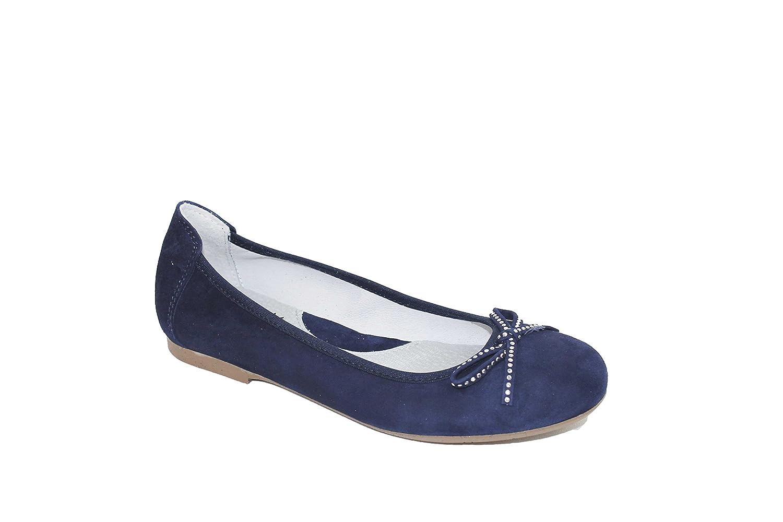 Bailarina mujer Acebo's piel, color azul con diseño MARINO 9107 azul Talla:37