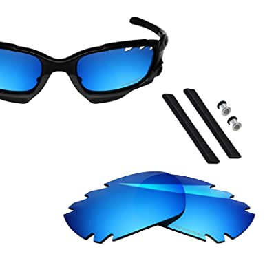 775a6bc249 Image Unavailable. Image not available for. Colour  Polarized Replacement  Lenses   Sock Kit for Oakley Jawbone Vented Racing Jacket - Ice Blue