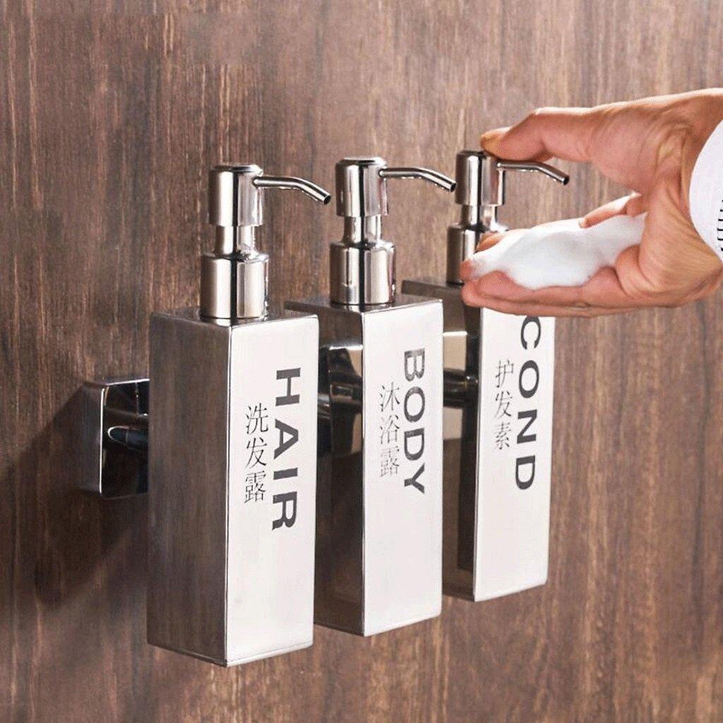 YYF Erogatore di sapone Accappatoio in acciaio inox Manipolatore di sapone Scatola di sapone Bagno della stanza da bagno della cucina Muro di lavaggio Bottiglia Bottiglia Doccia Tripla