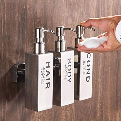 Dispensadores de jabón YYF Acero Inoxidable Jabón de Mano Dispensador Caja de Jabón Cuarto de Baño