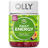 OLLY Daily Energy Gummy, 30 Day Supply (60 Gummies), Tropical Passion, Vitamin B12, CoQ10, Goji Berry, Caffeine Free…