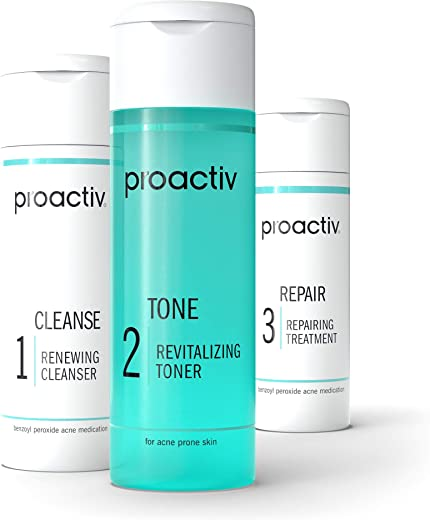 Proactiv 3 Step Acne Treatment – Benzoyl Peroxide Face Wash, Repairing Acne Spot Treatment For Face And Body, Exfoliating Toner – 30 Day Complete…