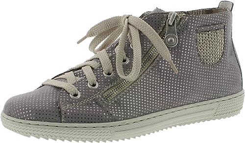 Rieker L9402 Damen Kurzstiefel, Stiefel, Boots, Stiefelette mit sommerlicher Perforation