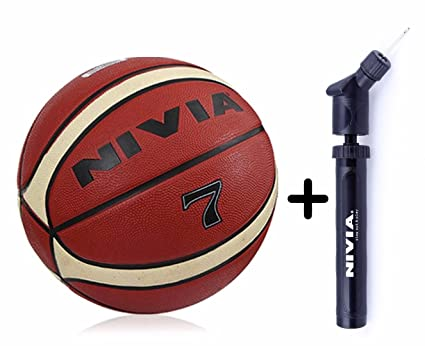 Buy Nivia Engraver Basketball Size 7 Nivia Double Action Ball Pump Online At Low Prices In India Amazon In