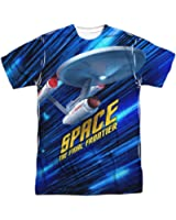 Star Trek Series Space The Final Frontier Adult Front/Back Print T-Shirt