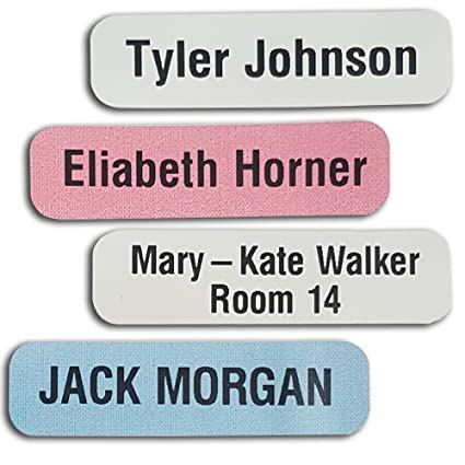 amazon com 50 printed iron on name labels tags for school care
