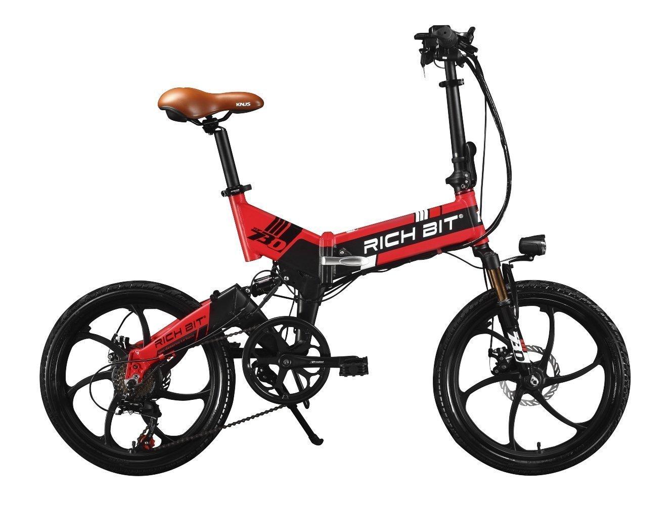 2018年モデル 20インチ 電動アシスト自転車 折り畳む 48V/8Ahバッテリー 専用充電器付 B0797SNVXH レッド レッド