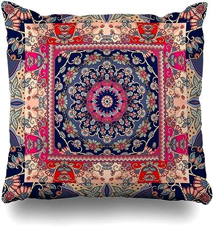 Mesllings - Funda de Almohada Decorativa con diseño de pañuelo ...