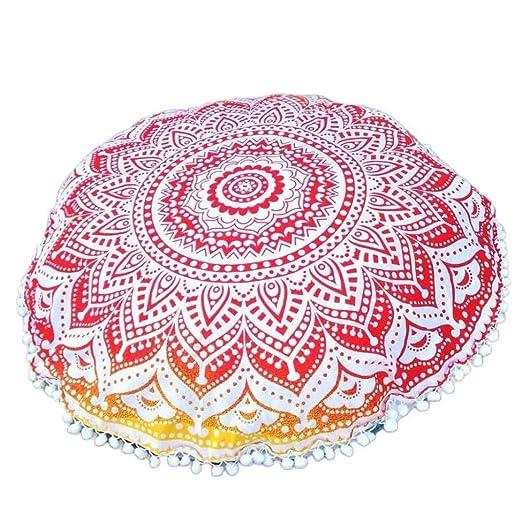igemy indio Mandala almohadas para suelo grande redondo ...