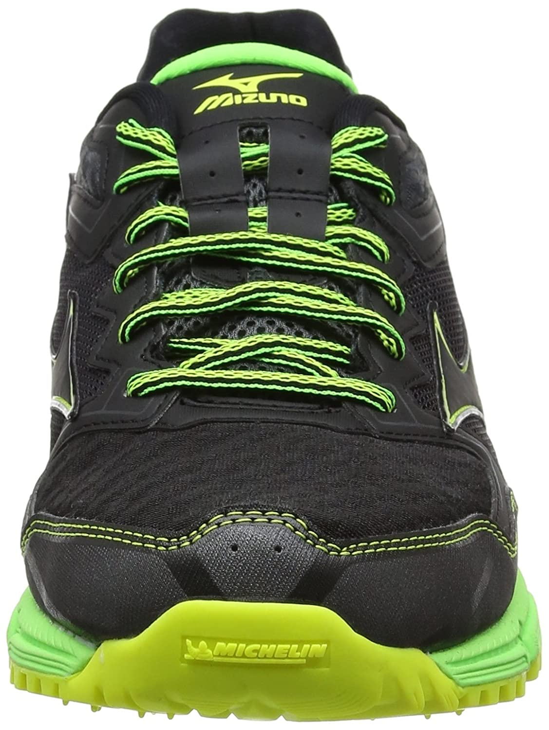 Mizuno wave daichi 2, scarpe da trail running uomo, nero (blackblackgreen gecko), 46 eu amazon da corsa