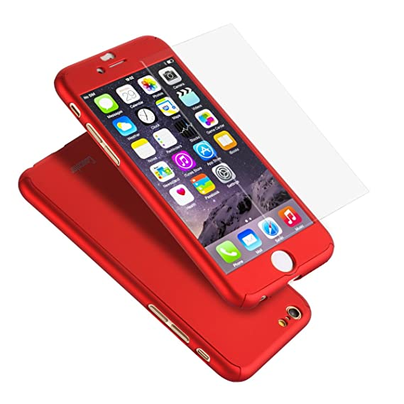 pretty nice 4eff0 da556 iPhone 6S Case, Coocolor Ultra Thin Full Body Coverage Protection Hard Slim  iPhone 6S Case with Tempered Glass Screen Protector for Apple iPhone 6S ...