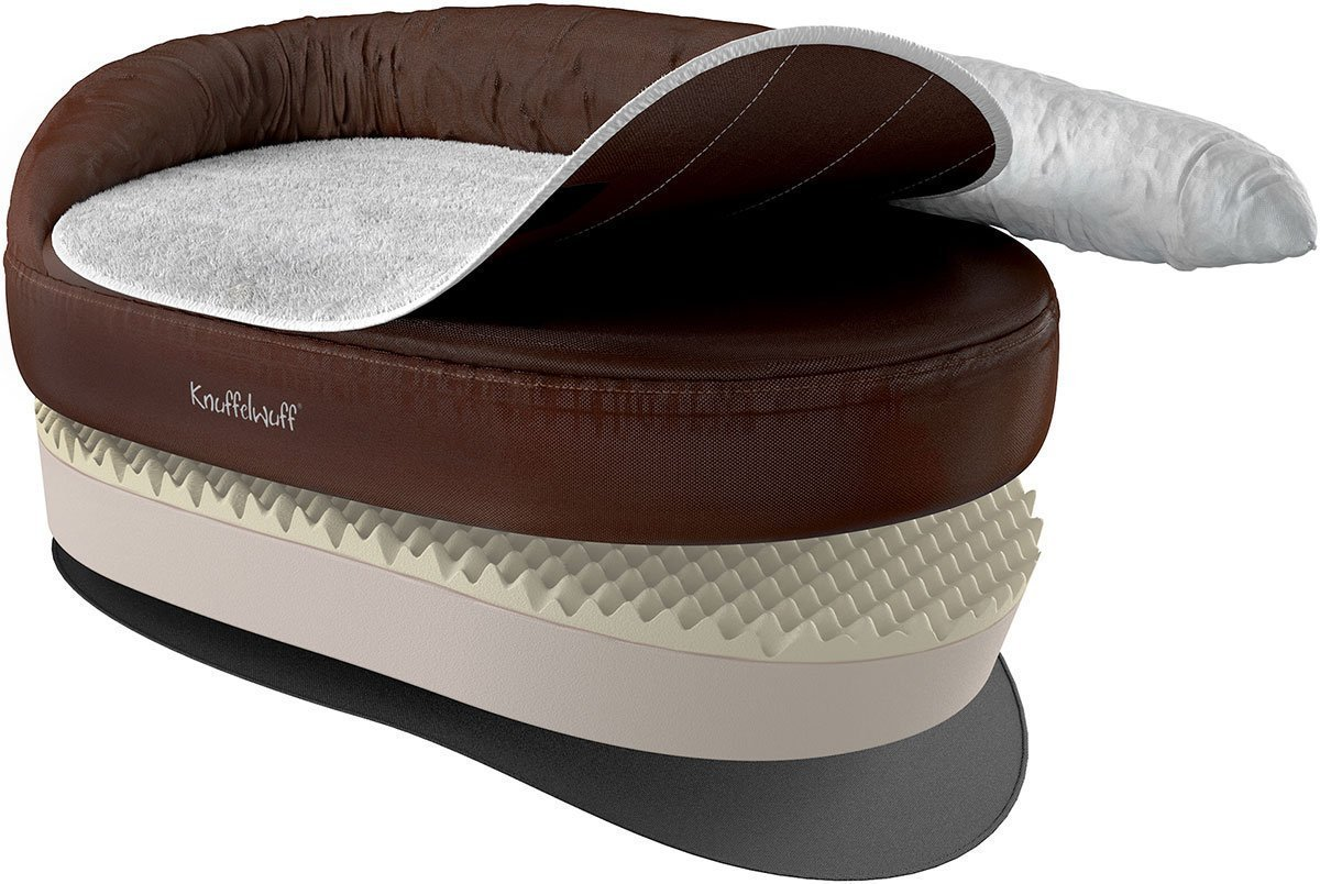 Knuffelwuff Orthopädisches Hundebett Ortho Bed Jessy 135cm braun
