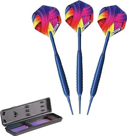 Elkadart Neon Soft Tip Darts with Storage//Travel Case 18 Grams Neon Pink