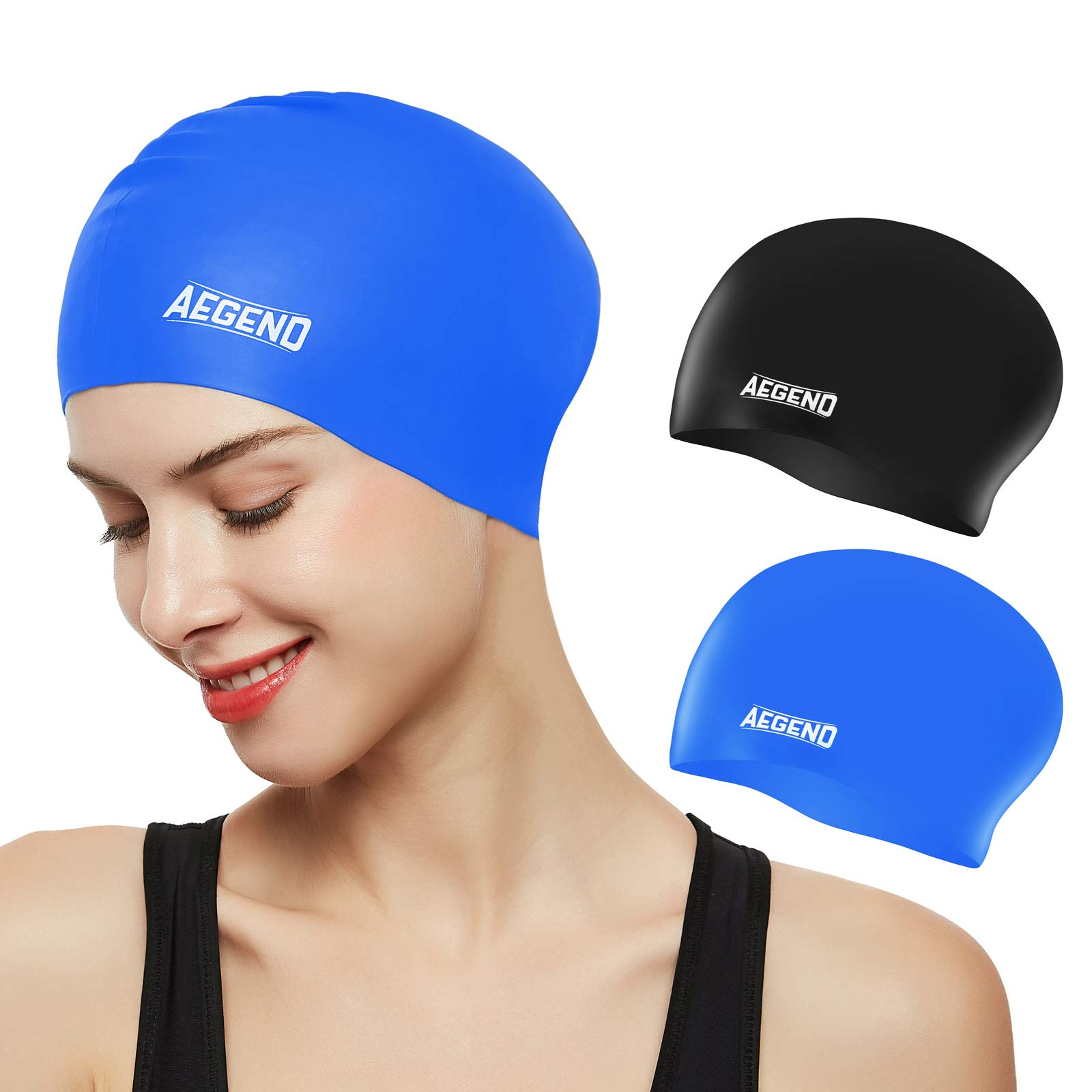 Aegend Swim Caps for Long Hair (2 Pack), Durable Silicone Swimming Caps for  Women Men Adults Youths Kids, Easy to Put On and Off, 4 Colors- Buy Online  in India at desertcart.in.