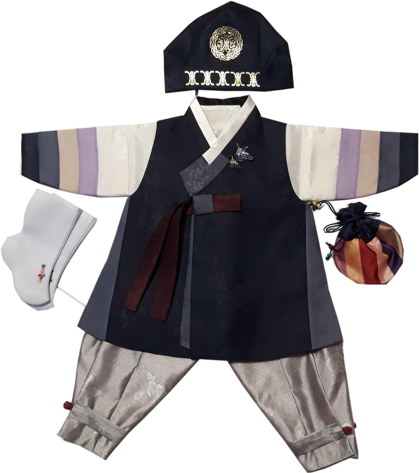 Hanbok Boys Babies kids Korean traditional costumes HANBOK 1st Birthday DOLDBOK hb1003/1