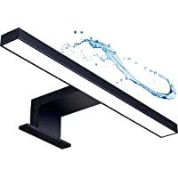 LED spiegellamp badkamer licht badkamer make-up licht zwart mat wandlamp opbouwlamp kastverlichting klemlamp warm wit…