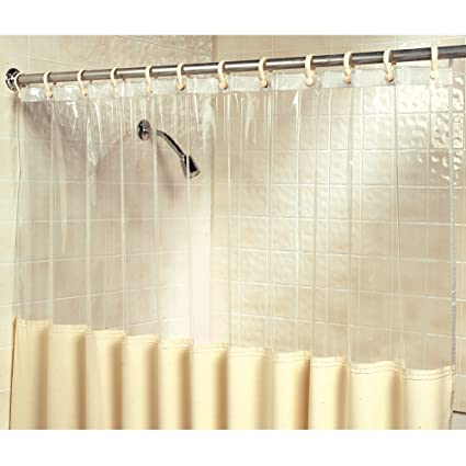 Clear View Antimicrobial And Germicidal Bath Shower Curtain