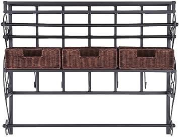 RX 789 Craft Storage Rack Harper Blvd Burnet Espresso Wall Mount
