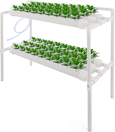 VEVOR 4 Layers 36 Plant Sites Hydroponic Site Grow Kit 4 Pipes Hydroponic Growing System Water Culture Garden Plant System for Leafy Vegetables Lettuce Herb Celery Cabbag