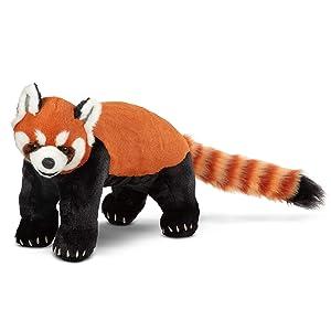 Melissa & Doug Lifelike Plush Red Panda Standing Stuffed Animal (2.5 Feet Long) (Color: Multi)