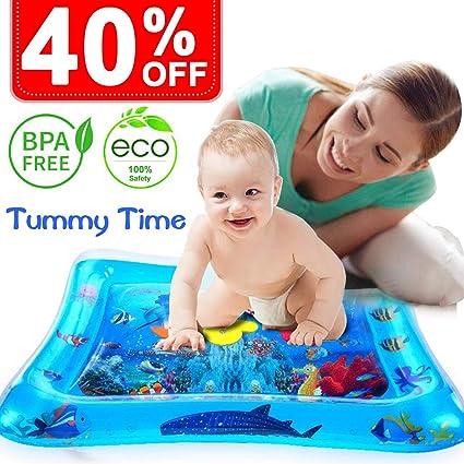 Amazon.com: Tummy Time - Alfombra de agua para bebé y bebé ...