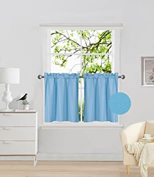 Fancy Collection 2 Panel Turquoise Bedroom Curtains Blackout Draperies  Thermal Insulated Solid Rod Pocket Top Drapes for Kid\'s Room, Bathroom,  Kitchen ...