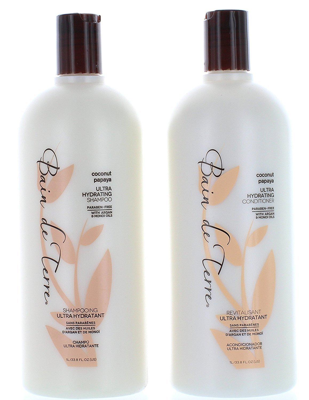 Bain De Terre Coconut Papaya Ultra Hydrating Shampoo & Conditioner 33.8 Oz, 2 Count