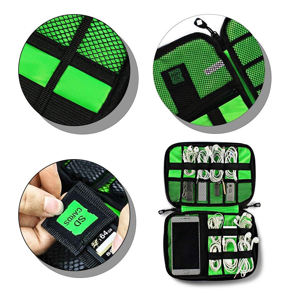 Ciaoed Elektronische Tasche Kabeltasche Zubehör Reisetasche Kabel Organizer Tasche für Elektronisches Zubehör Wie Festplatte Und Handy USB Cable Power Banks Festplatte Schwarz