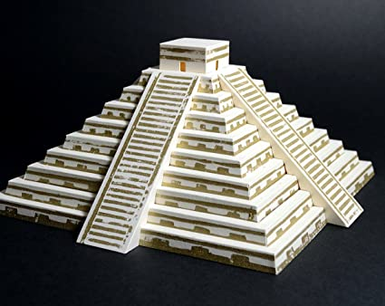 Amazon com: PaperLandmarks Mayan Pyramid 3D Paper Model