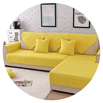 Terrific Amazon Com Blue Yellow Plaid Quilted Brushed Sectional Sofa Short Links Chair Design For Home Short Linksinfo