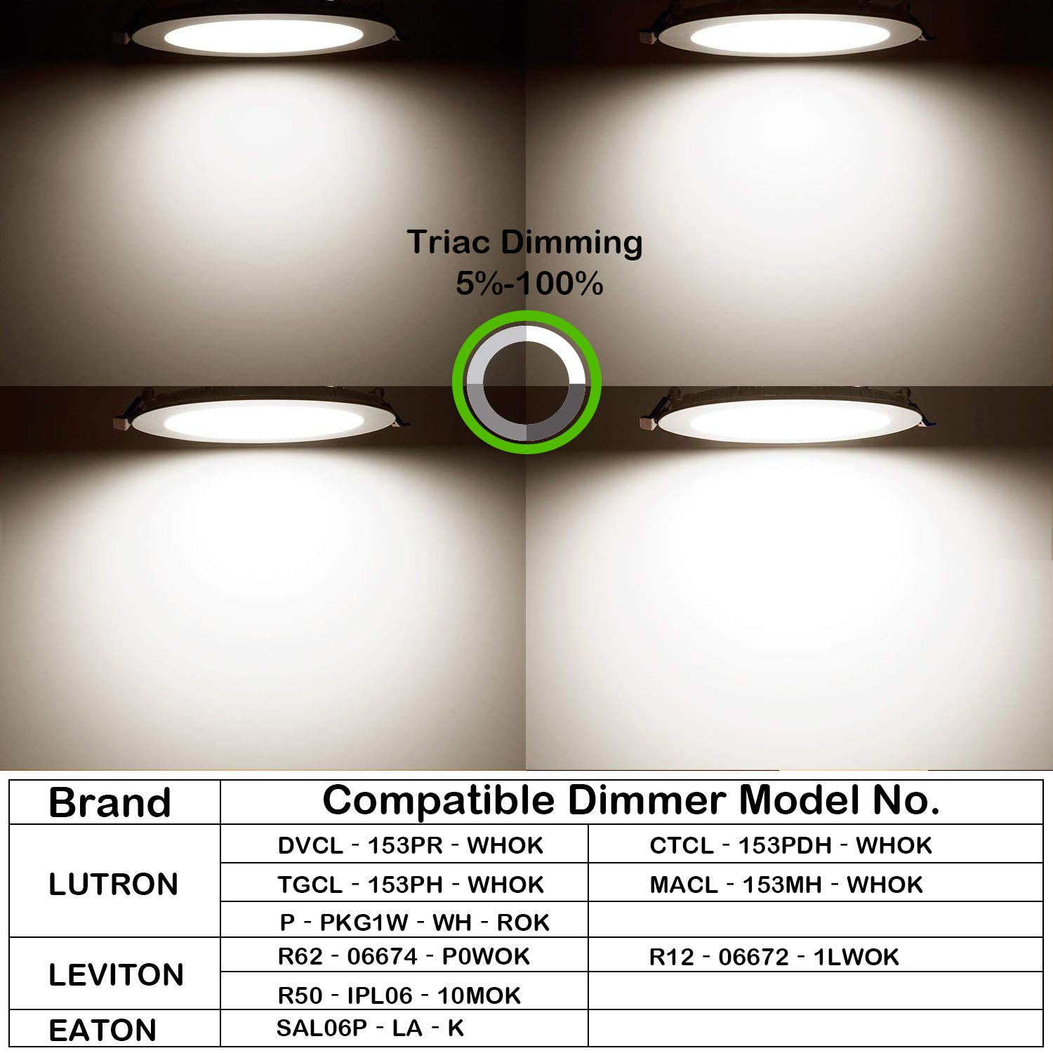Hykolity 12 Pack 10W 4 Inch LED Slim Recessed Ceiling Light, 800lm, CRI90, 4000K Neutral White, Low Profile Downlight with Junction Box Dimmable, ETL& Energy Star Listed,Title 24 Compliant by hykolity (Image #4)