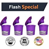 Fill N Save 4 Pack Reusable K Cups for Keurig 2.0 & Backward Compatible With Original Keurig 1.0 Models. Works with Keurig Machines and Other Single Cup Brewers