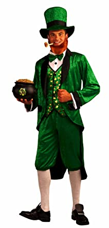 Amazon.com: Forum Mr.Leprechaun Costume, Green, Adult: Clothing