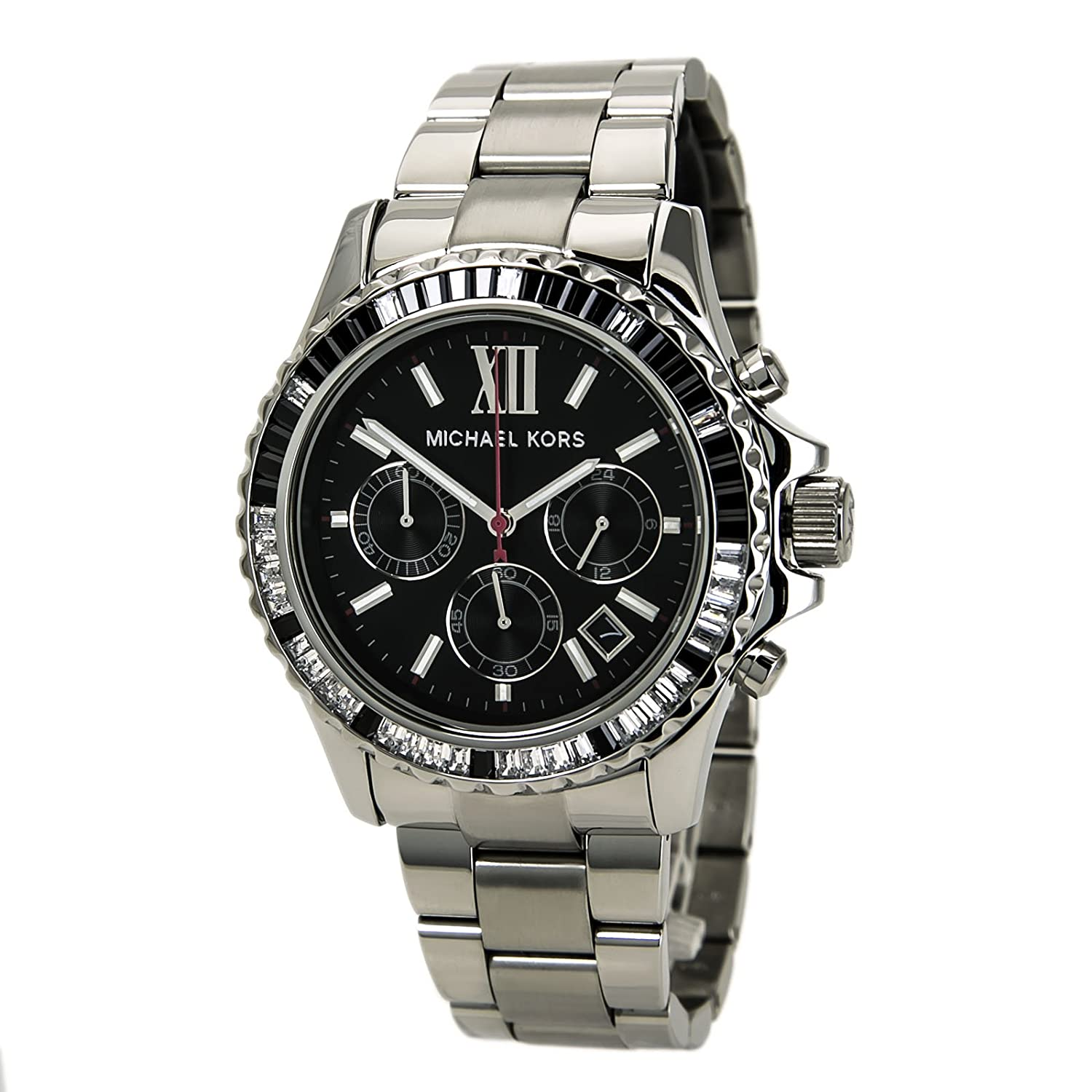 Michael Kors Everest Chronograph Black Dial Stainless Steel Ladies Watch MK5753