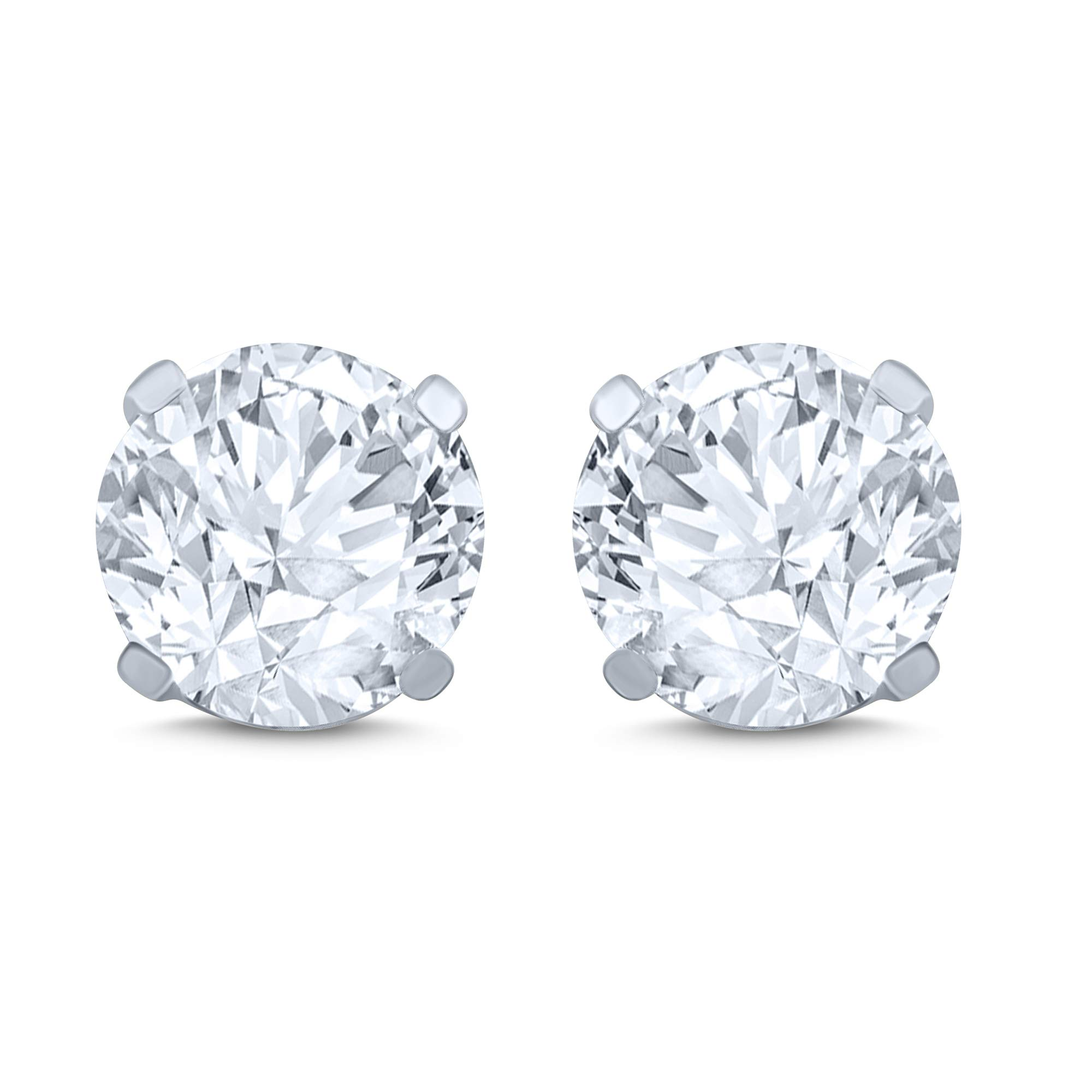 14k White Gold Diamond Stud Earring (1/4 cttw, J-K Color, I2I3 Clarity) by Cynergy