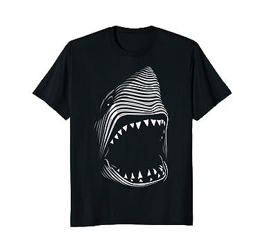 Mens White Shark Monster Terror Horror Scary T Shirt 2xl Black